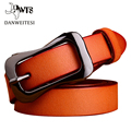 2016 new style ladies fine pure leather fashion belt all match decorative pin buckle minimalist new