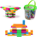 104pcs Children Block Toy Kid Educational Building Blocks Bricks Toy Plastic Self Locking Bricks FCI