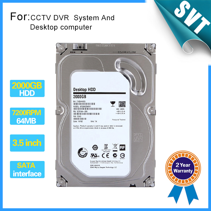 "disco duro externo 2tb new 2000gb 3.5"" inch Hard disk 2TB 7200rpm 64MB SATA Internal HDD for Desktop DVR recorder CCTV system(China (Mainland))"
