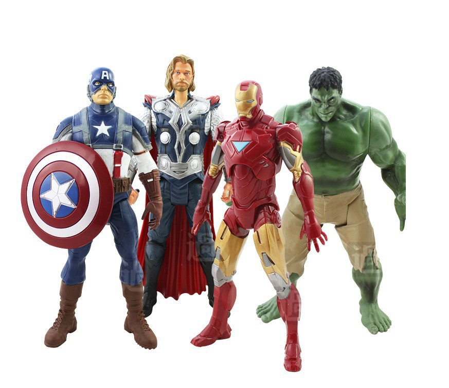 NEW 4pcs/set Movable The Avengers 2 Action Figures Captain America Thor Hulk Iron Man 20cm Figures Toy Gifts IronMan Superhero(China (Mainland))