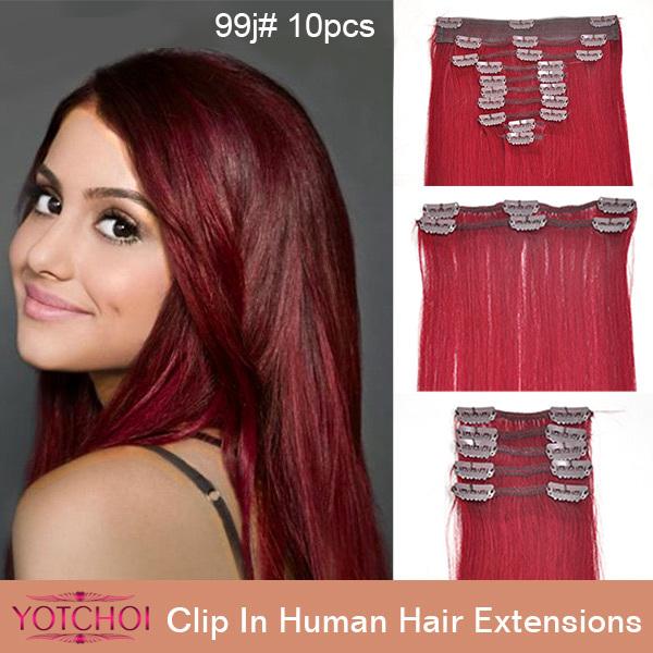 Yotchoi brazilian hair 613 100% human hair extens 14-24in 10wefts/set clip in hair extension human hair weft <br><br>Aliexpress