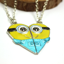 Most Popular Yellow People Minions Friends Necklace Movie Jewelry Trendy Pendant Necklace For Lovers And Friends Free Shipping(China (Mainland))