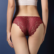 Buy 2017 Hot Fashion Women Underwear 8 Colors Sexy Lace Transparent Female Low Waist Hollow T Back Panties Lady Briefs for $1.49 in AliExpress store
