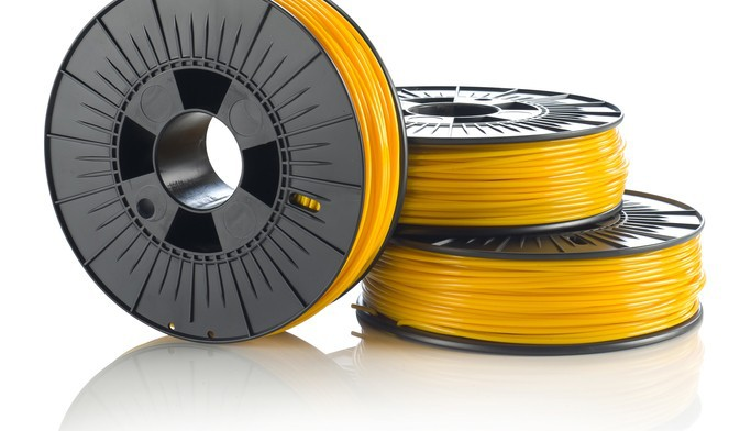 3D printer filament material PLA 3mm 0 5kg yellow or any other color for choose 100