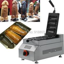 Hot Sale LPG Gas Hot Dog Penis Pancake Maker Machine Baker Iron(China (Mainland))