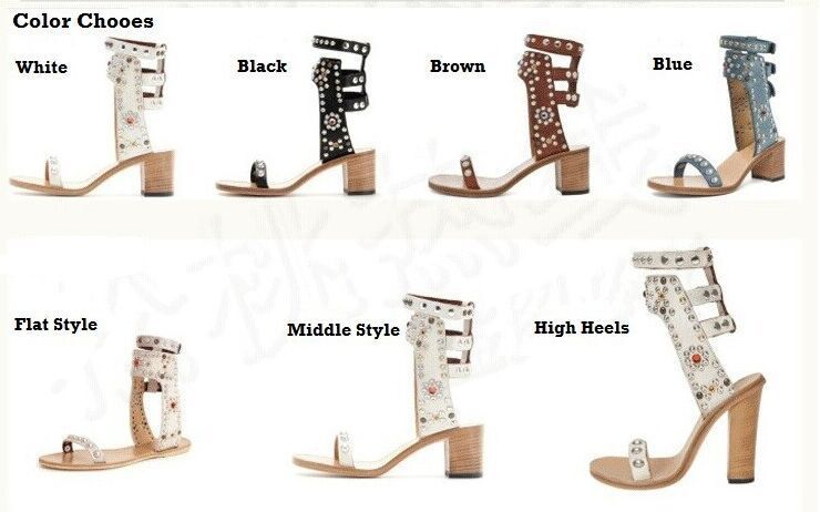 Free shipping 2015 Original Brand Isabel Marant Sandals Women Genuine leather Square heel Rivet High Heels open toe shoes