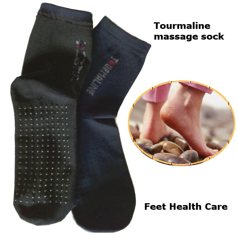 Tourmaline Massage Natural Therapy Cotton Socks 10pairs/lot Free Shipping