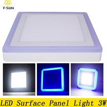 Buy Ceiling lamp Square acrylic led ceiling panel 3W recessed light surface mount ceiling plate 2835 SMD aluminum plate AC 85V-265V for $10.88 in AliExpress store