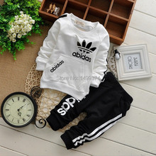 2015 Baby cotton suits Sets children's clothing baby boy girl boy suits two-piece suits cotton clothes for children 0-2 ages(China (Mainland))