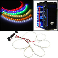 60cm 18 LED 5050 SMD PC Computer Case Waterproof Flexible Strip Tape Light DC12V Red Blue Green Yellow Pure White Warm white