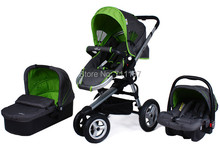 3 In 1 Stroller W Matching Car Seat Bottom Baby