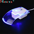 Mosunx Advanced 1600 DPI Optical USB LED Wired Game Mouse Mice For PC Laptop Computer Blue
