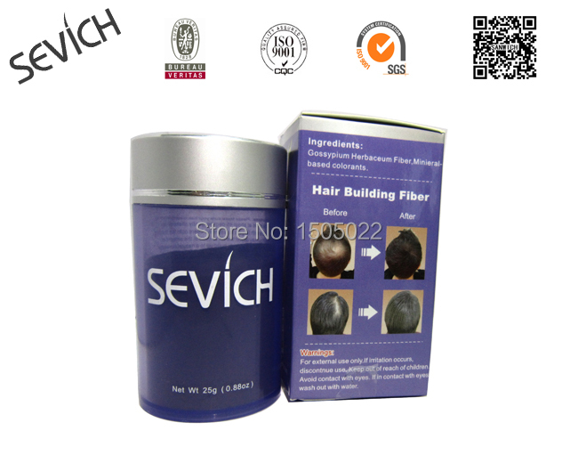 SEVICH 25g Hair Fibers Keratin Styling Thinning Loss Concealer Powder Natural Growth Essence 10color(China (Mainland))