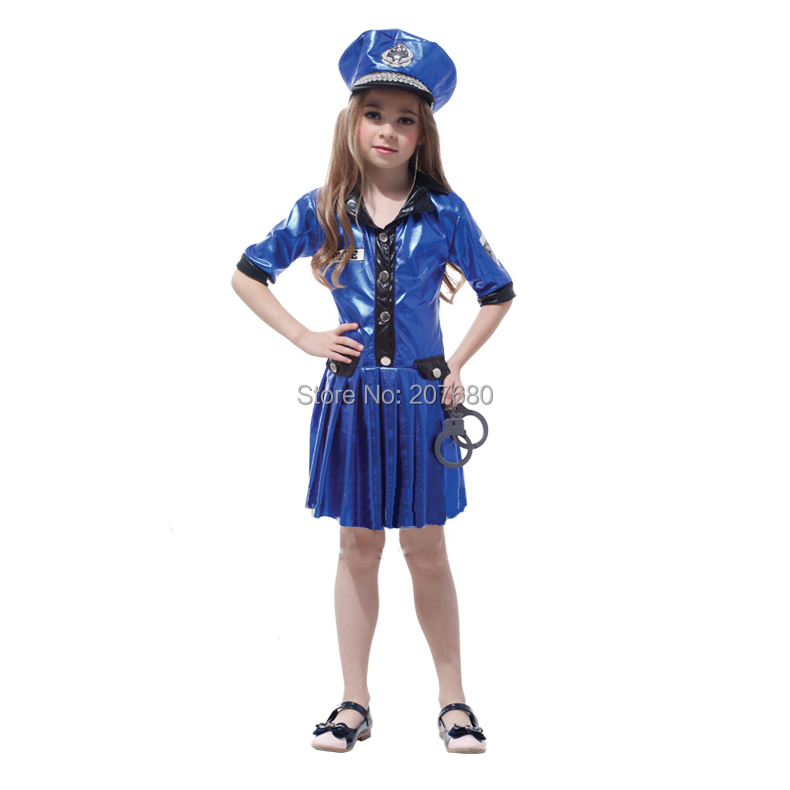 Buy super cool police girl cosplay for Cool halloween costumes for kids girls
