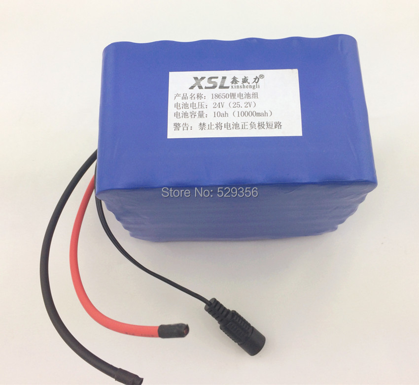24 v 10Ah 10000mah Outdoor Lights medical Battery of Electric vehicles 18650 Lithium-ion Battery Pack Portable Backup Power(China (Mainland))
