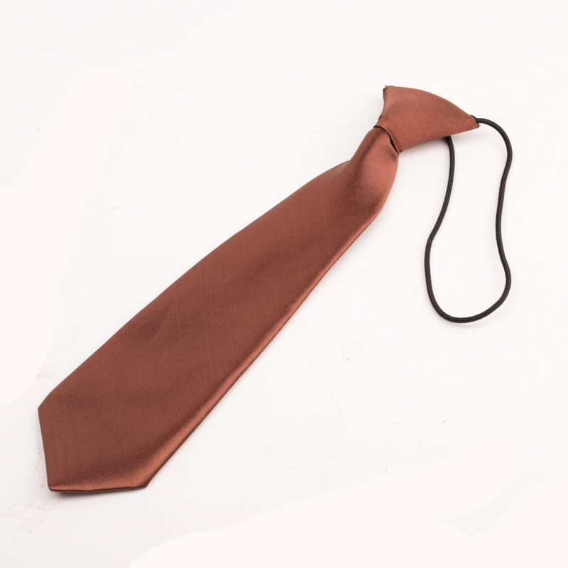 Wholesale Satin Elastic Neck Tie for Wedding Prom Boys Children School Kids