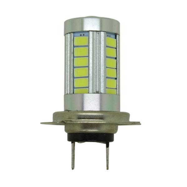 1x P21W 1156 BA15S H7 7w 33 smd 5730 LED Car Turn Signal White fog lights Auto DRL parking Lamps 12V car styling Auto headlamp(China (Mainland))