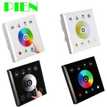 Montado en la pared de acrílico controlador Dimmer táctil de interruptor para RGB RGBW de un solo color CCT LED luz de tira 12 V - 24 V envío gratis(China (Mainland))