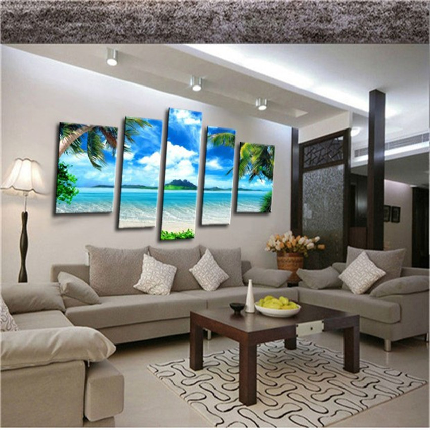 High quality 3d modern home decor oil painting canvas for Modern home accents accessories