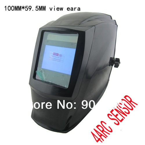 Big view eara 4 arc sensor Solar auto darkening filter TIG MIG MMA welding mask/helmet/welder cap/welding lens/eyes mask /device(China (Mainland))