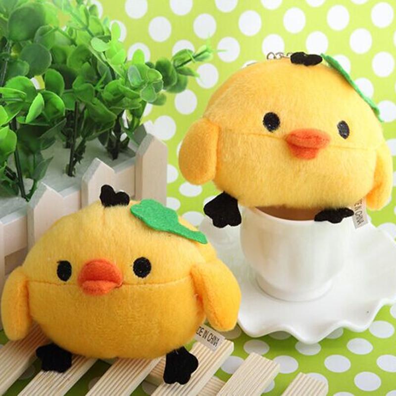 Cute chick bag key pendant wedding gifts plush cartoon toys, pet toys(China (Mainland))