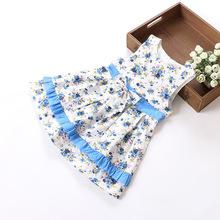 2015  summer style girl dress floral dress elsa  cinderella dress free shipping