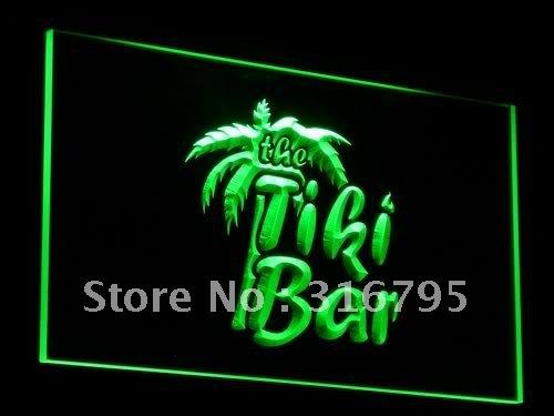 j008-g OPEN Tiki Bar Displays Club Bar LED Neon Light Signs(China (Mainland))