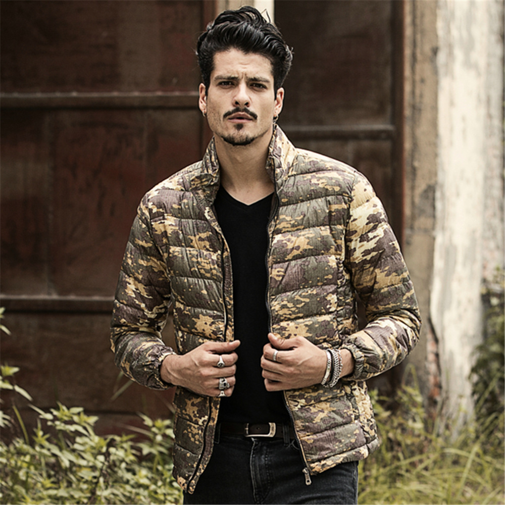 Camouflage Duck Down Jackets 2015 New Designer Brand Fashion Winter Jacket Men Camo Snow Outdoor Long Casual Coats Jacket(China (Mainland))