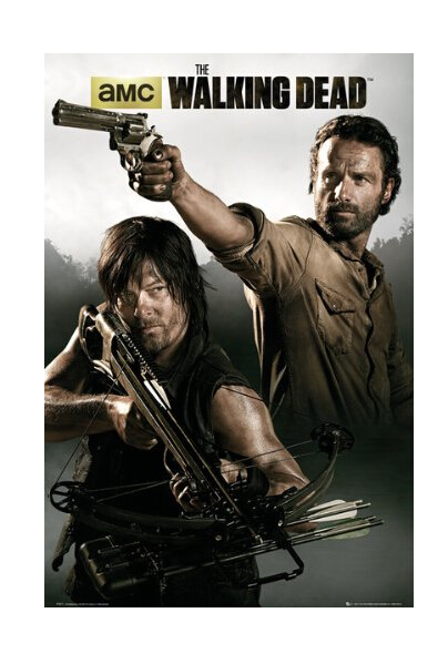 The Walking Dead Hot TV Show Custom Wall Paper HD Pictures and Prints Retro posters Wall Sticker office home decor U1-615(China (Mainland))