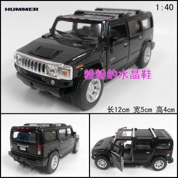 Soft world humvees hummer h2 suv alloy car model toy black
