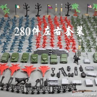 Reminisced toys child small plastic world war ii soldier car model set