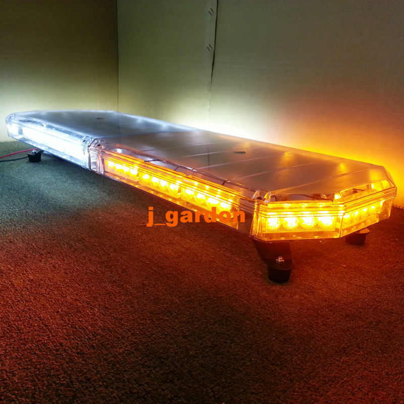 "12V -24V 35.5""72 LED Long Row Car Light Emergency Warning Light Wrecker Beacon Flashing Strobe LightBar Amber White Light(China (Mainland))"