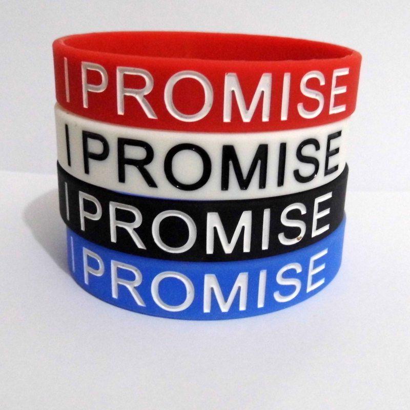 4 pcs New I Promise Basketball Sports Wristband Silicone Gym Fitness Power Bands Energy Bracelets For Man Women christmas Gift(China (Mainland))