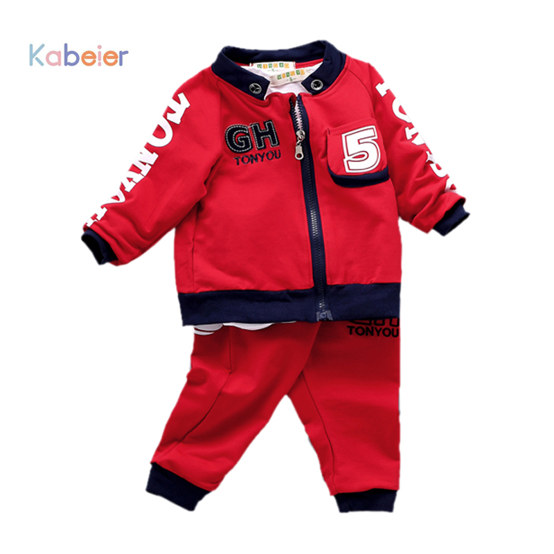 1-4 Years 2016 Kids Soccer Jersey Baby Boys Girls Clothing 3Pcs Set Children Boy Toddler Tracksuit Outfits Sports Clothes Suit(China (Mainland))