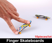 10 pieces/lot Toys for children Novelty Hip-Hop style Finger Skateboard Classic toys for kids Finger scooter Finger Board(China (Mainland))