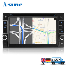 A-Sure Universal ISO DVD Player sat nav Double 2 Din GPS in-car stereo Bluetooth Radio USB SWC (W3653)(China (Mainland))