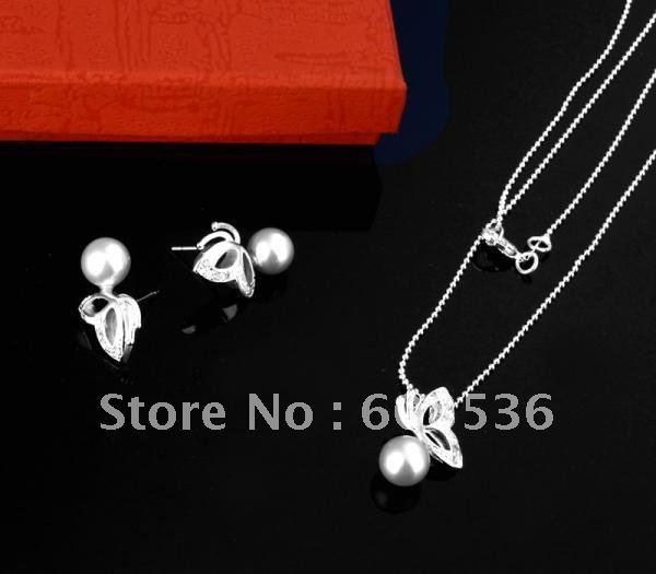 fashion jewelry, Silver plated Necklace & bracelet, Brand New S15