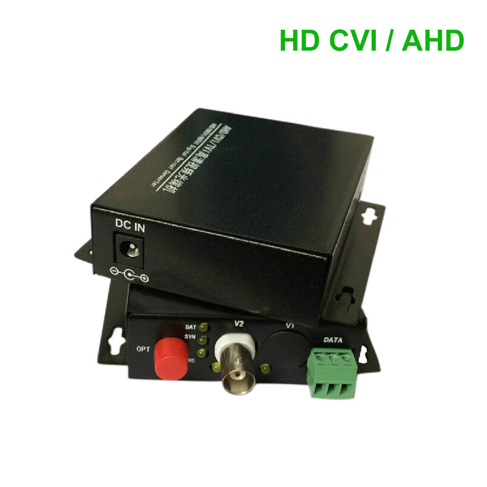 HD CVI 1 Channel Video/RS485 data optical Media Converter Transmitter Receiver -1Pair for 720P 960P AHD CVI HD cameras CCTV(China (Mainland))