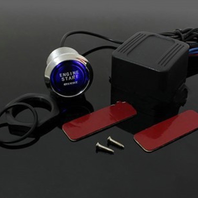 LED Illumination Auto Car Keyless Engine Starter Ignition Push Start Button Switch With Retail Box CQM121(China (Mainland))