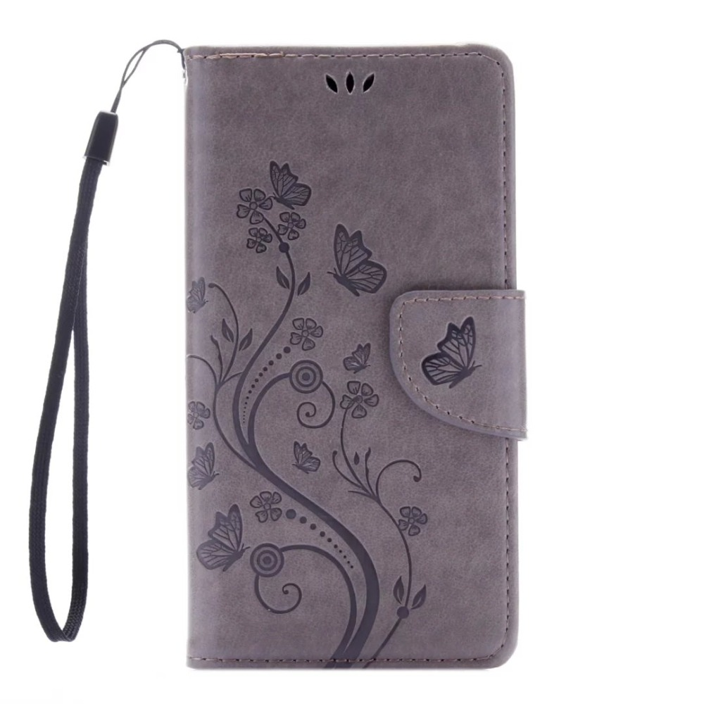 Luxury Butterfly flower emboss Pu Leather Case flip cover for Sony Xperia X Performance XP Wallet phone bag Stand holder shell(China (Mainland))