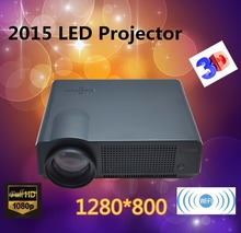 Free gift 100'' curtain Full HD New Android Smart Projector Proyector LCD 3D Wifi Home Theater TV Beamer LED Projektor 1080p(China (Mainland))