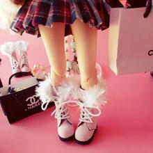 1 par 1/6 escala clásica moda nieve botas zapatos accesorios para Blyth Pullip Licca Azone muñecas accesorios(China (Mainland))