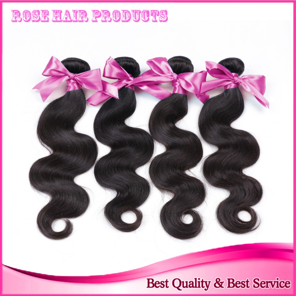 Brazilian virgin hair body wave 4PCS/lot beauty queen hair products human hair Brazilian body wave Brazilian hair weave bundles(China (Mainland))
