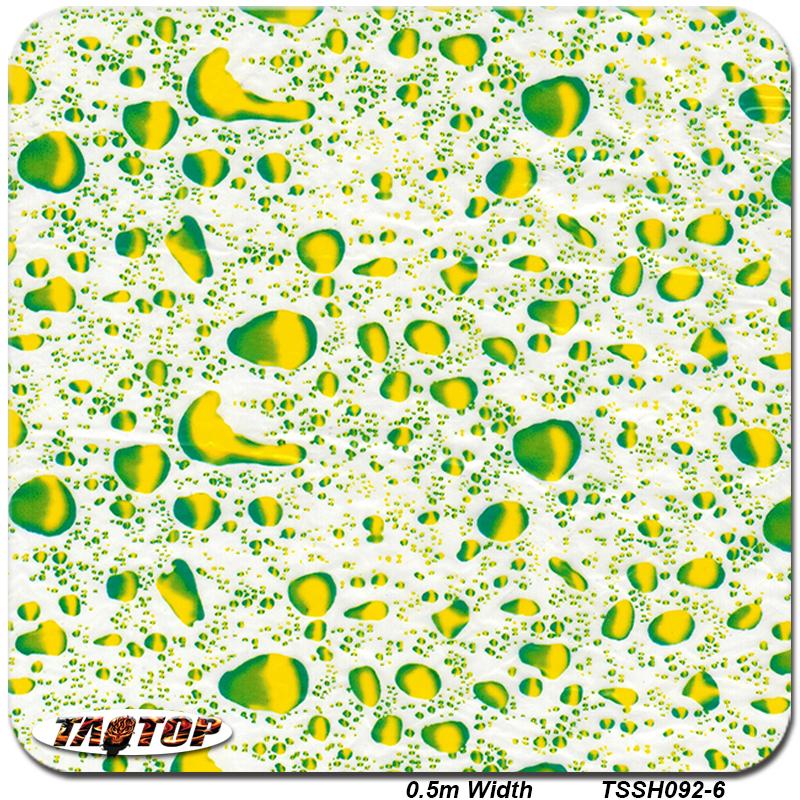 Transfer Print Film Hydrographic Film 0.5m*20m TSSH092-6 Water Drop Design 3d Aqua PVA Water Transfer Printing Film(China (Mainland))