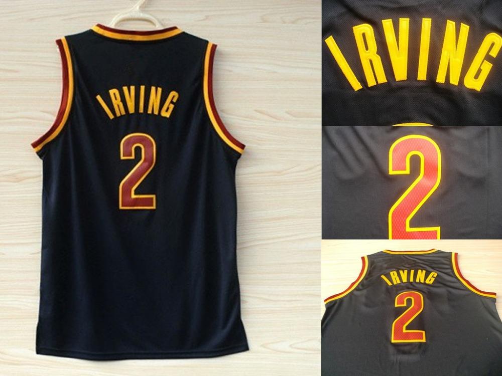 kyrie irving cheap basketball jersey season dark blue NO.2 jerseys camisetas baloncesto embroidery gifts free shipping(China (Mainland))