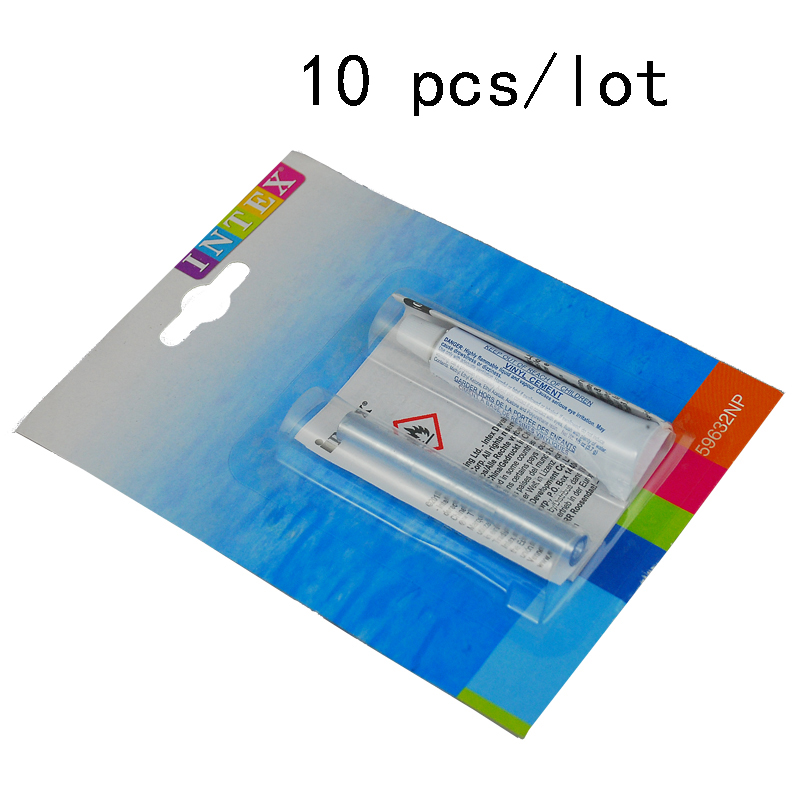Intex Swimming Pool Patch Kit Vinyl Repair Glue 10 pcs(China (Mainland))