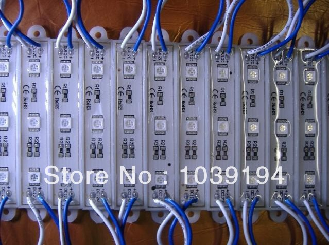 100pcs 5050 3 LED Modules blue Waterproof IP68DC12V,LED channel letter High Brightness free mail<br><br>Aliexpress