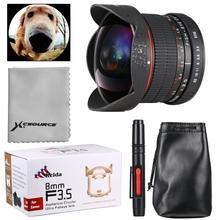 8mm F3.5 HD Fisheye Lens Manual Focus for Canon 60D 70D 550D 600D 650D 700D 1100D 1200D LF549(China (Mainland))