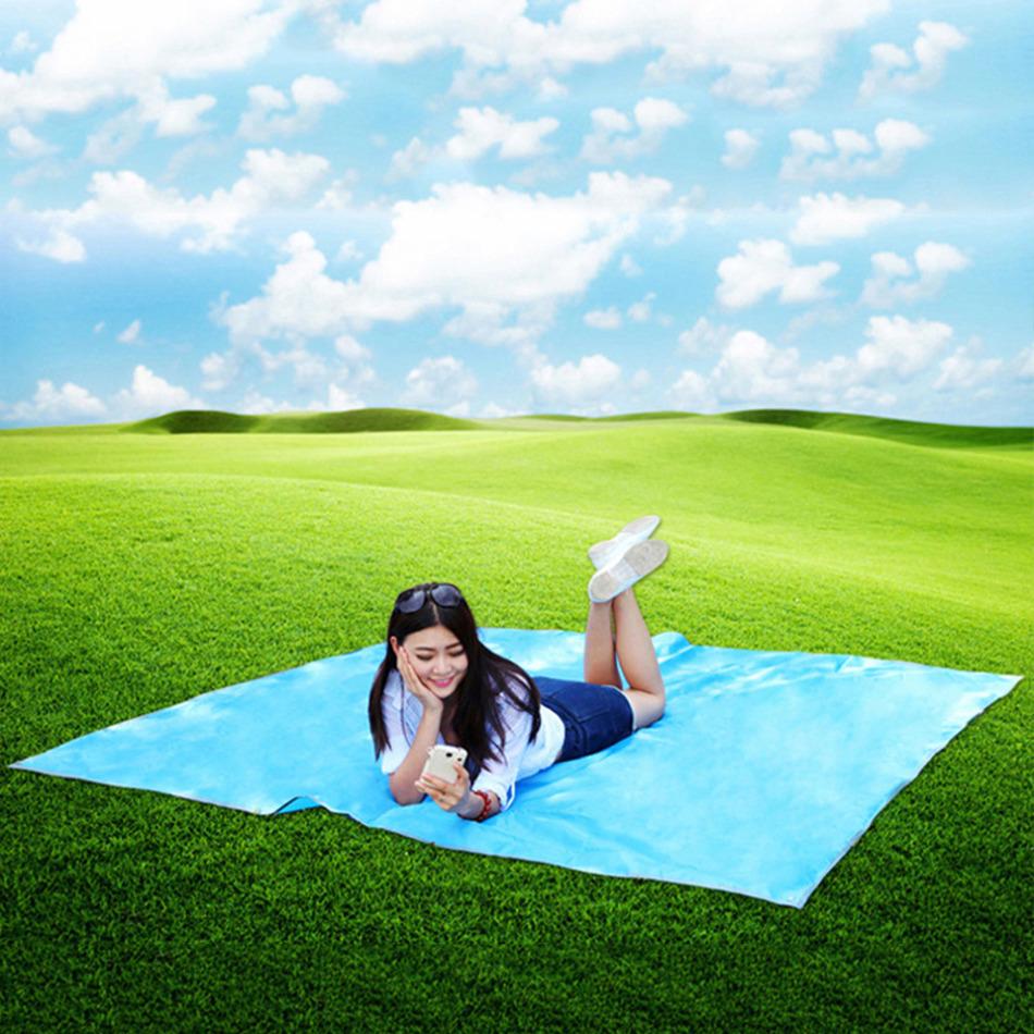 Delicate Promotion Tarp Waterproof Outdoor Picnic mat Beach mattress Camping Bay Play mat font b Plaid