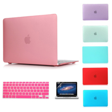Matte Case For Apple Macbook Air 13 Case Air 11 Pro 13 Retina 12 13 15 Laptop Bag For Mac book Keyboard Cover+Screen film(China (Mainland))